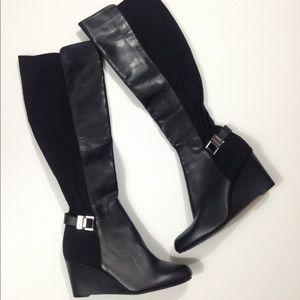 Calvin Klein SAMA Engineer High Wedge Boots
